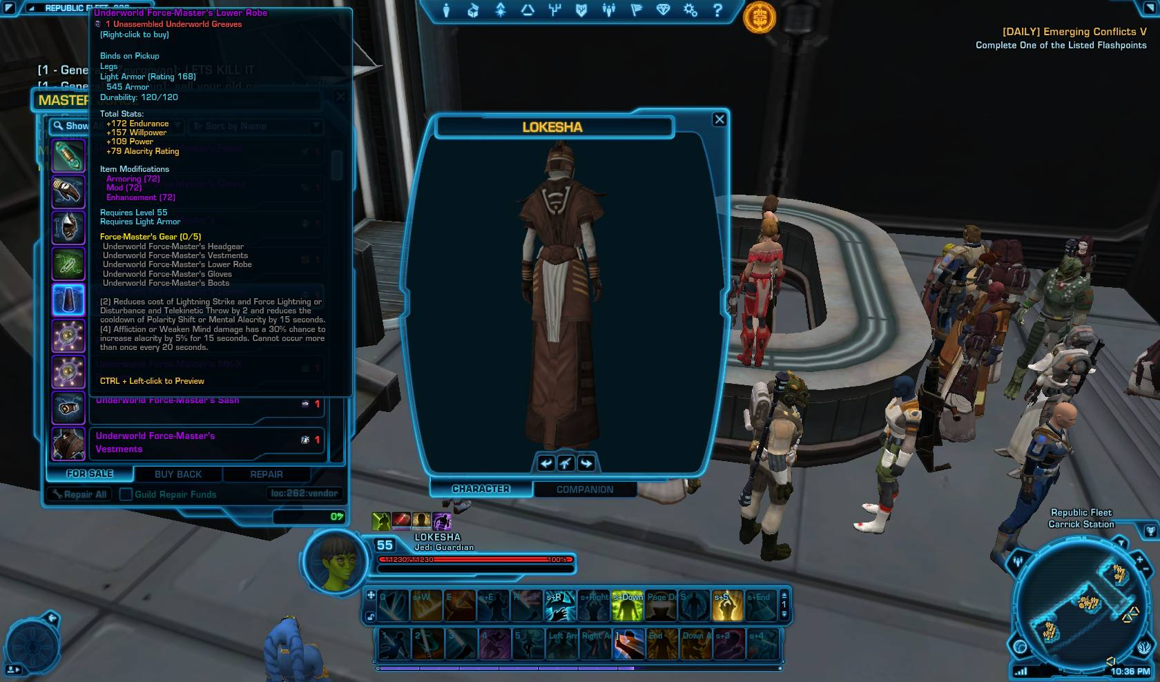 how to get level 248 gear swtor