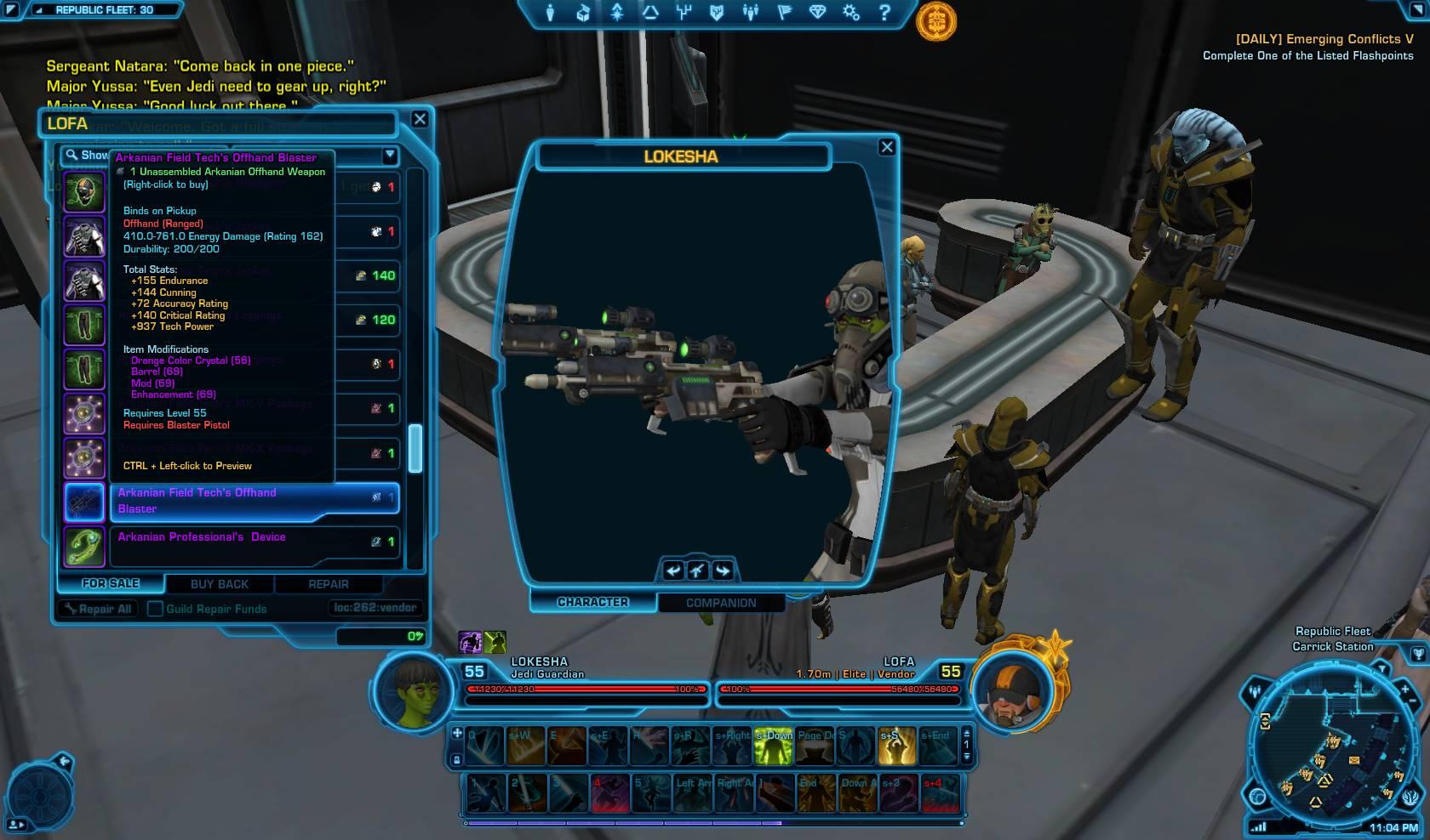 swtor arkanian offhand blaster