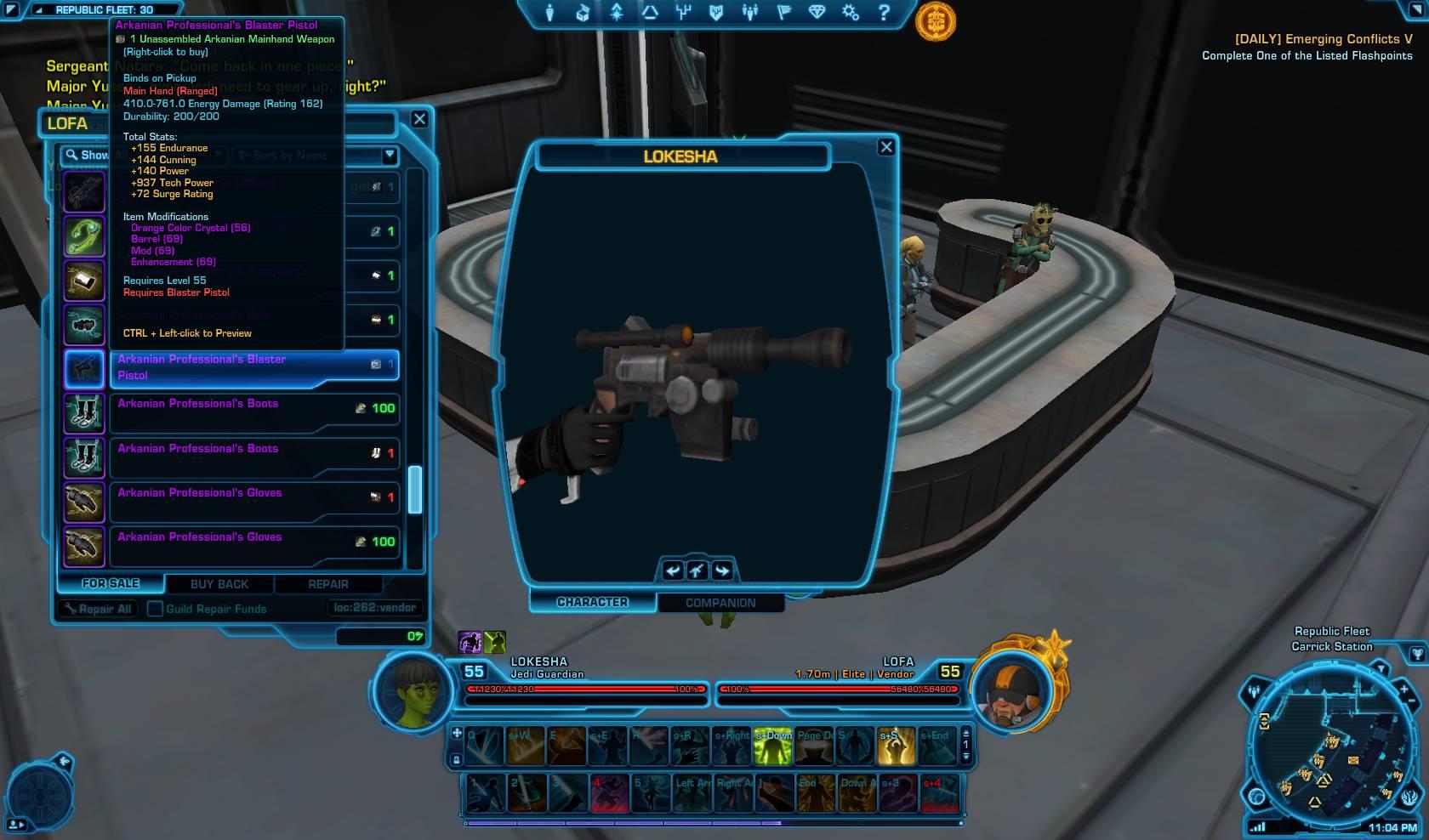 swtor arkanian professional blaster pistol