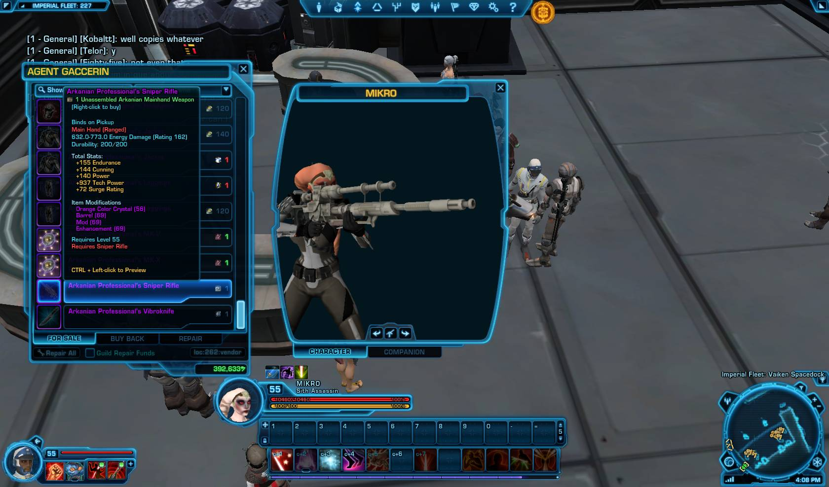 swtor arkanian professional sniper rifle