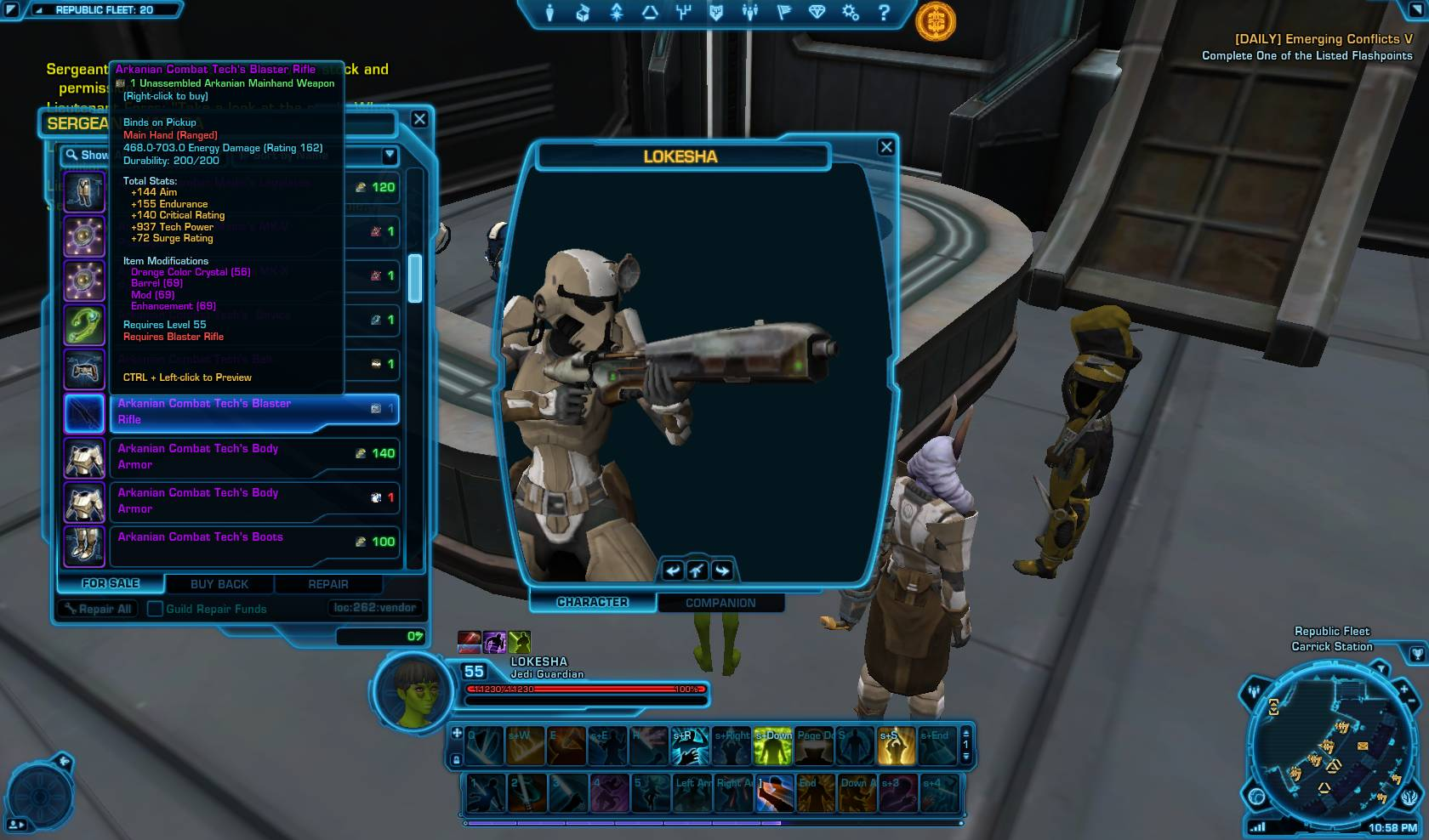 swtor arkanian rifle