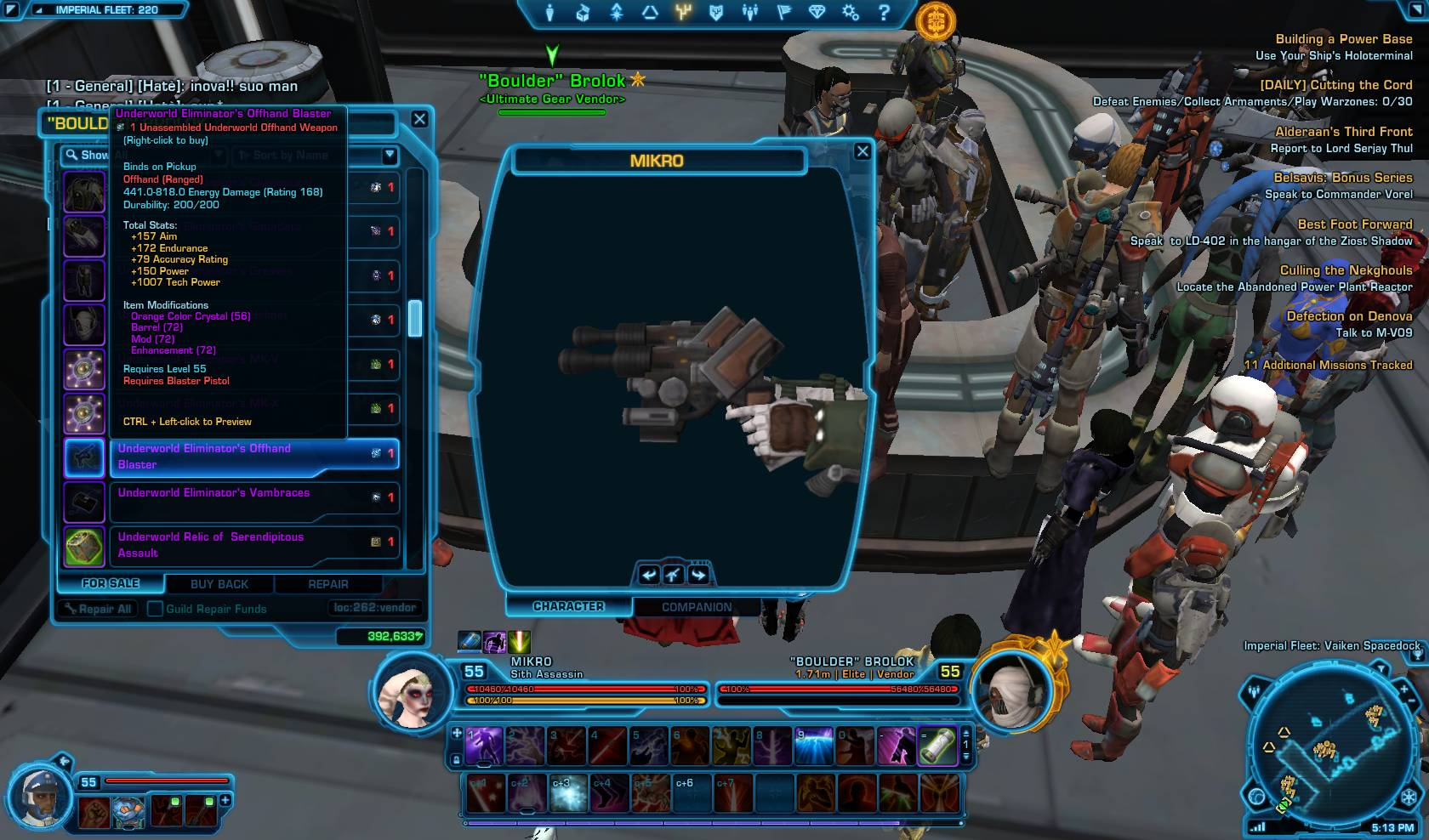 swtor underworld offhand blaster