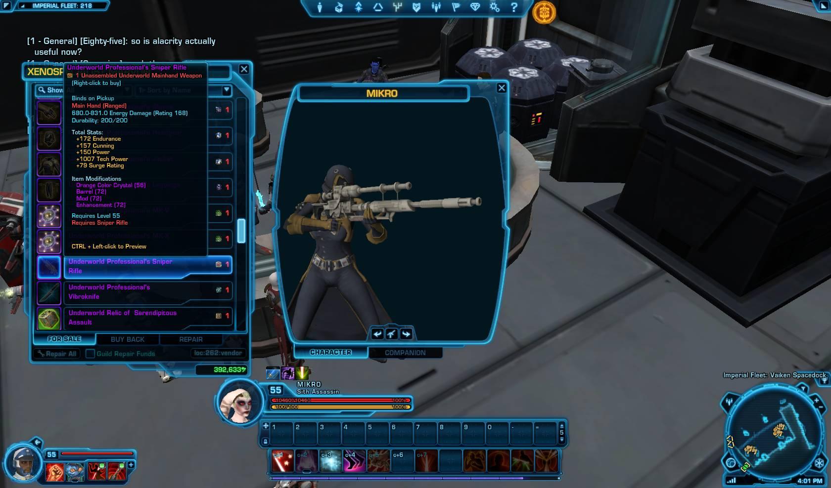 swtor underworld professional sniper rifle
