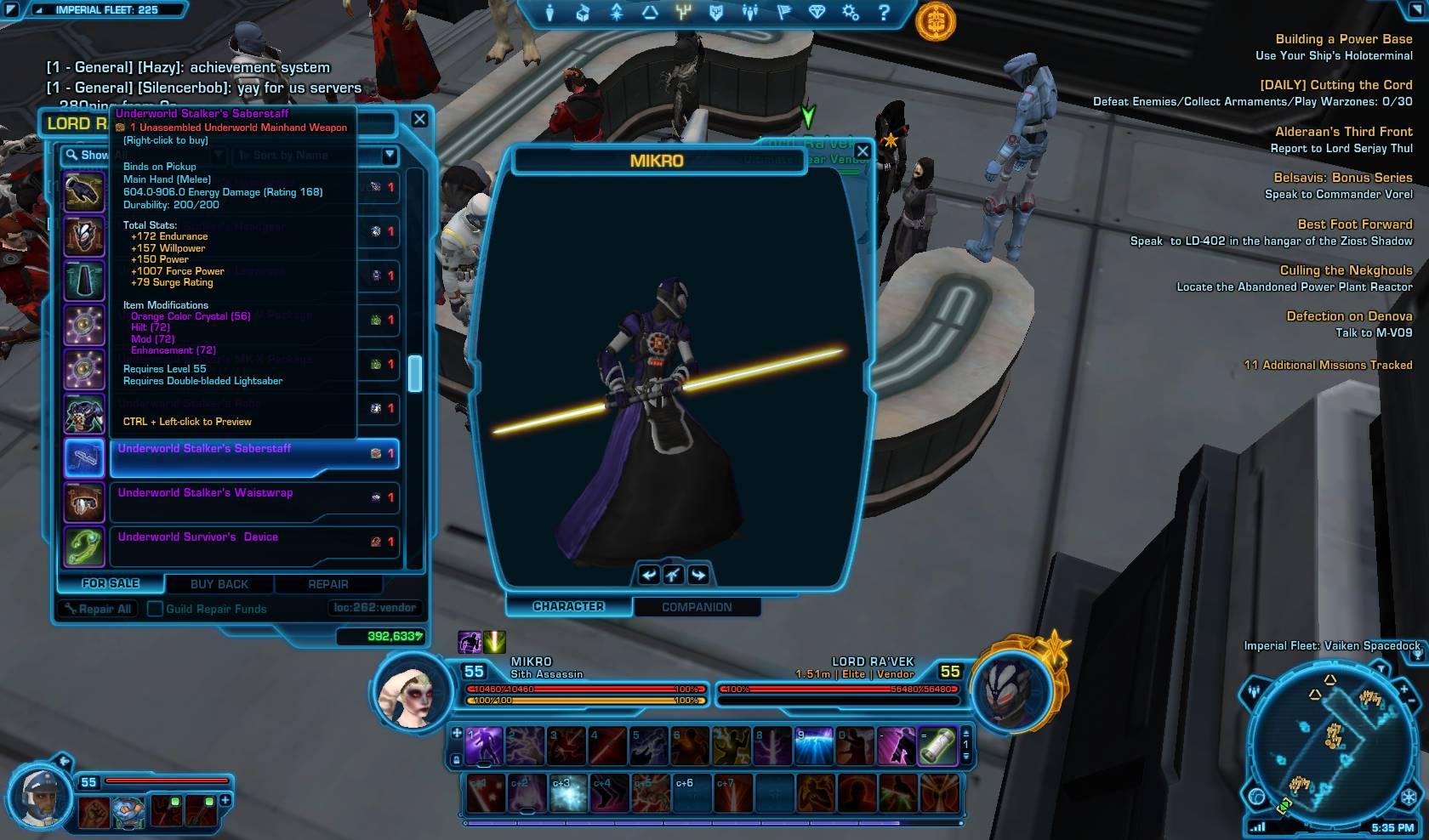 swtor underworld saberstaff