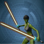 Swtor Kell Dragon Mainhand and Offhand Lightsaber