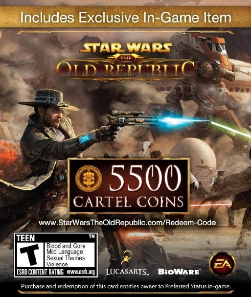 swtor 5500 Cartel Coins card