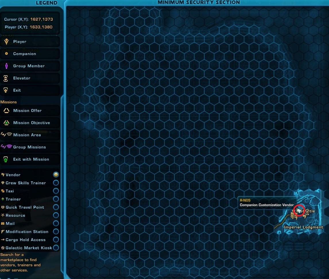 CC Vendor R-N05 Belsavis Map