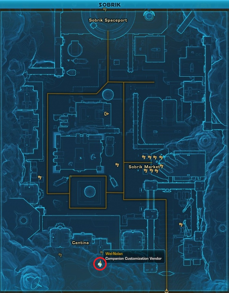Companion Customiaztion Vendor Wel Nolan Balmora Map