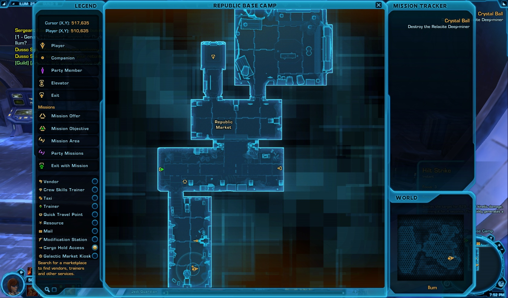 Republic Vendor Sergeant Koam map