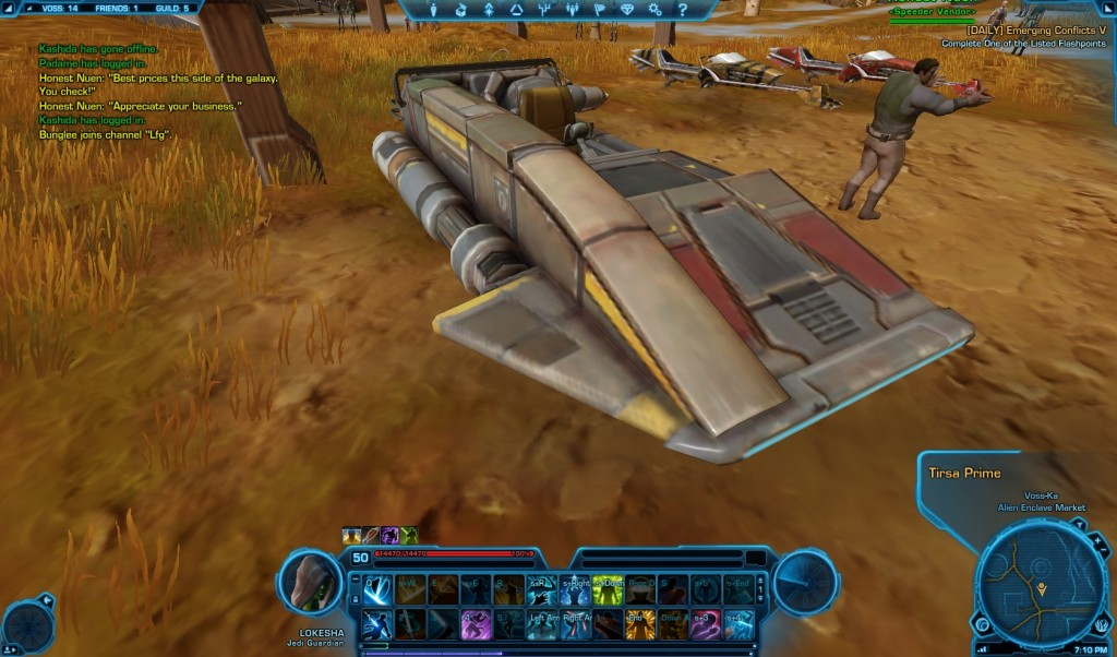 how to use speeder swtor