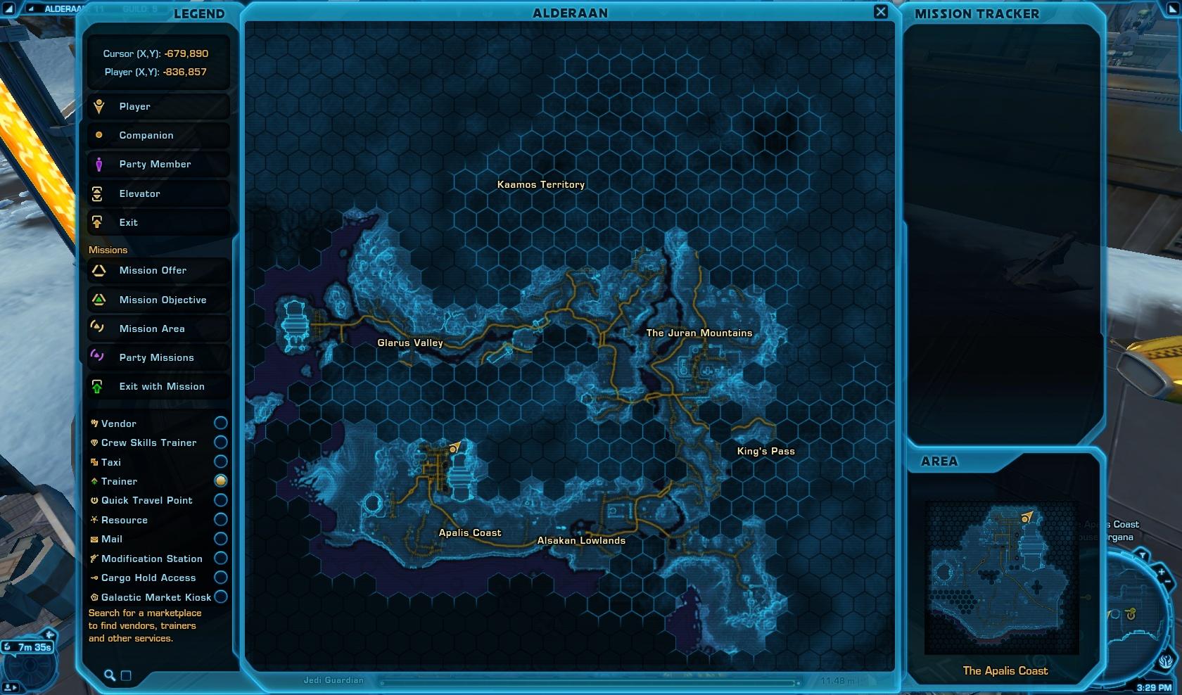 Nan Dijer Speeder Vendor Alderaan World Map