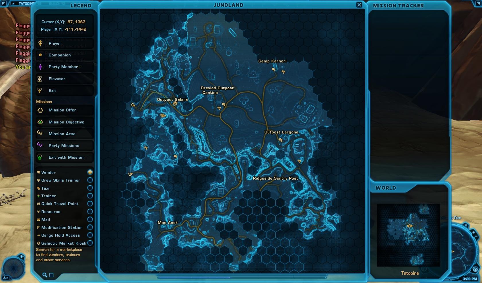 Jo'dath the Exile (Black Market Trader) Map