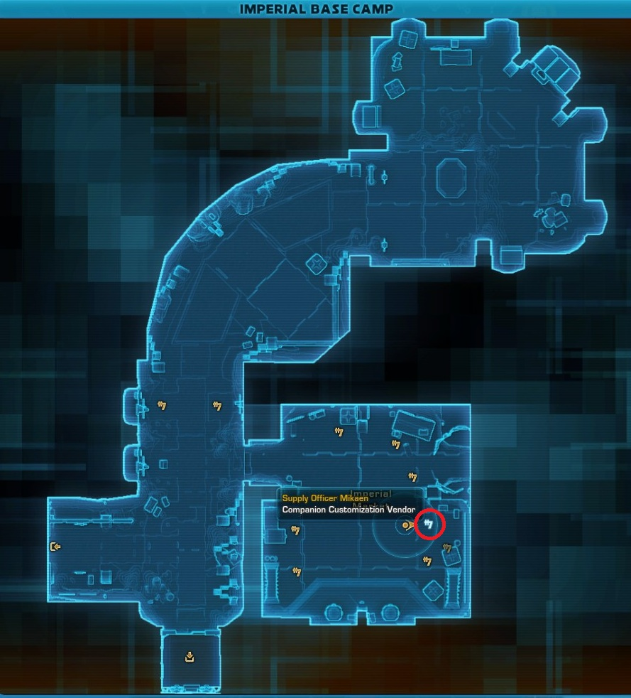 Supply Officer Mikaen Imperial Base Camp Map