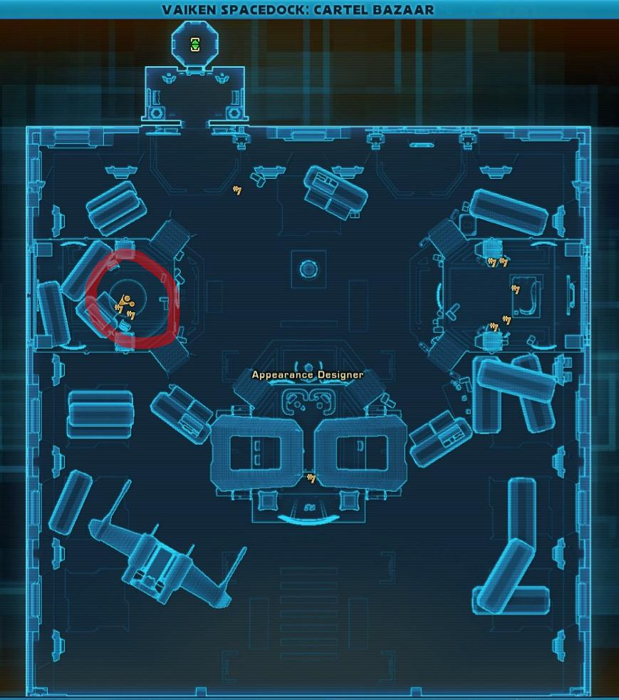 Swtor BBa Empire Freelance Gear Merchant Location