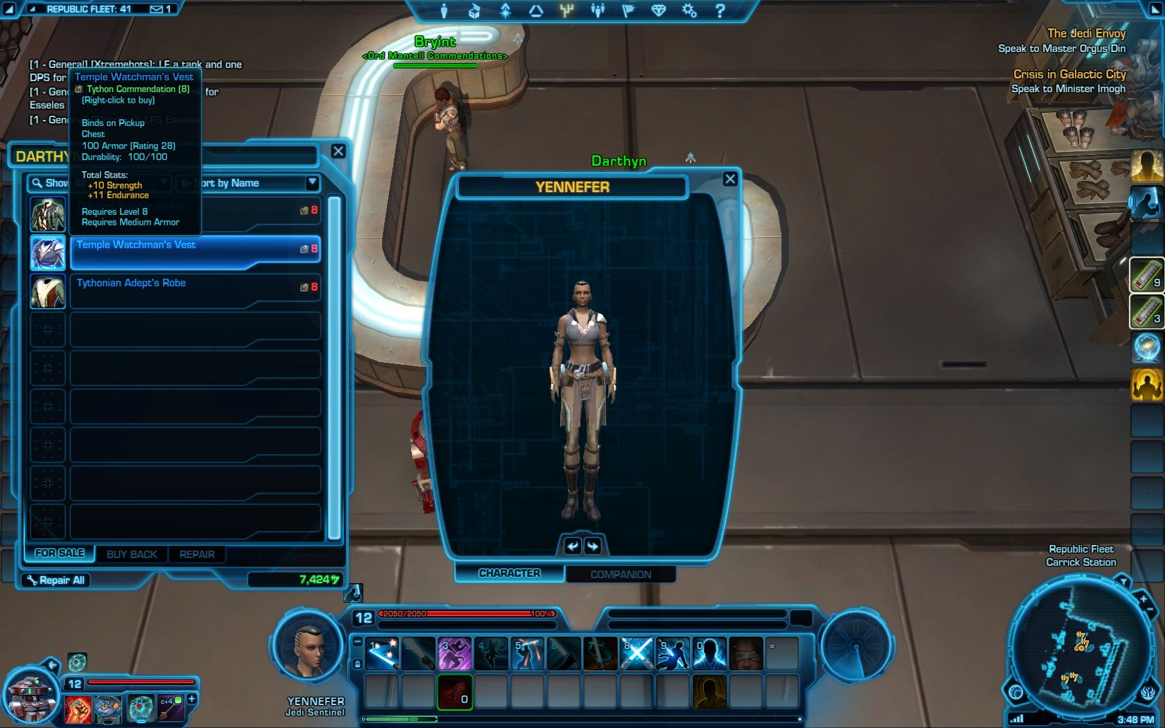 Tython commendation armor