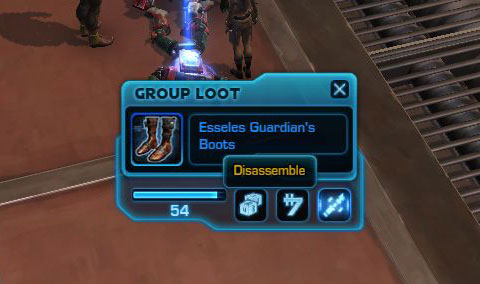 swtor disassemble option