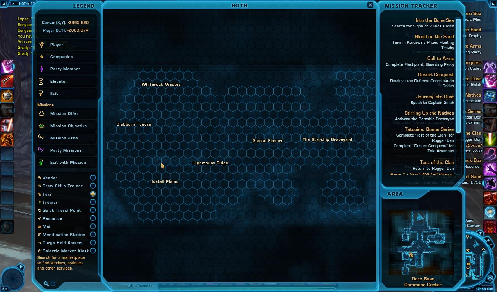 Grady - Social Items vendor Map View Hoth