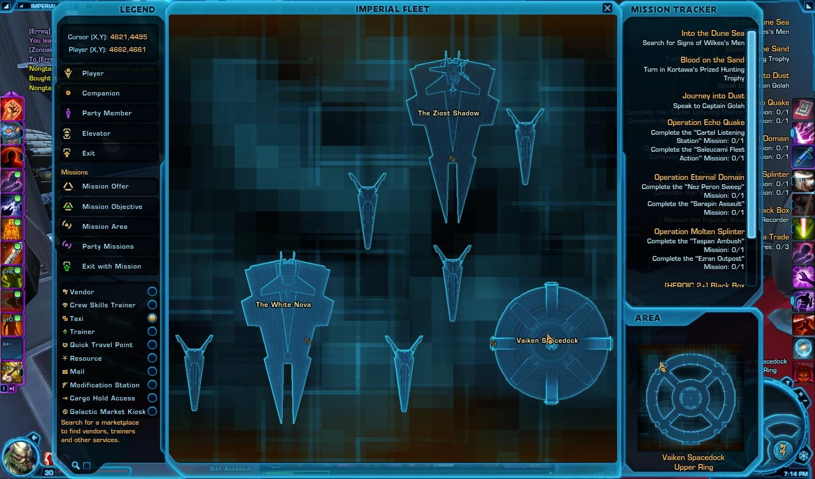 Nongta Collector's Edition Vendor Map View Imperial Fleet
