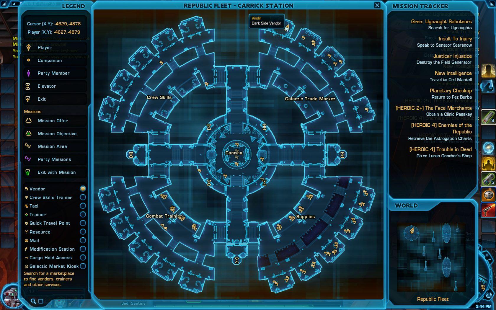 Vindir Dark Side Vendor Republic fleet Location