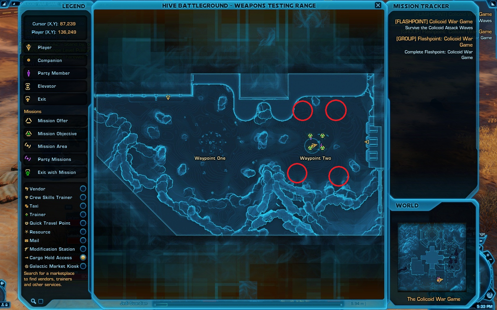 Map - Colicoid attack waves second phase
