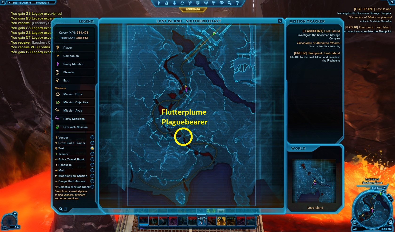 Flutterplume Plaguebearer location