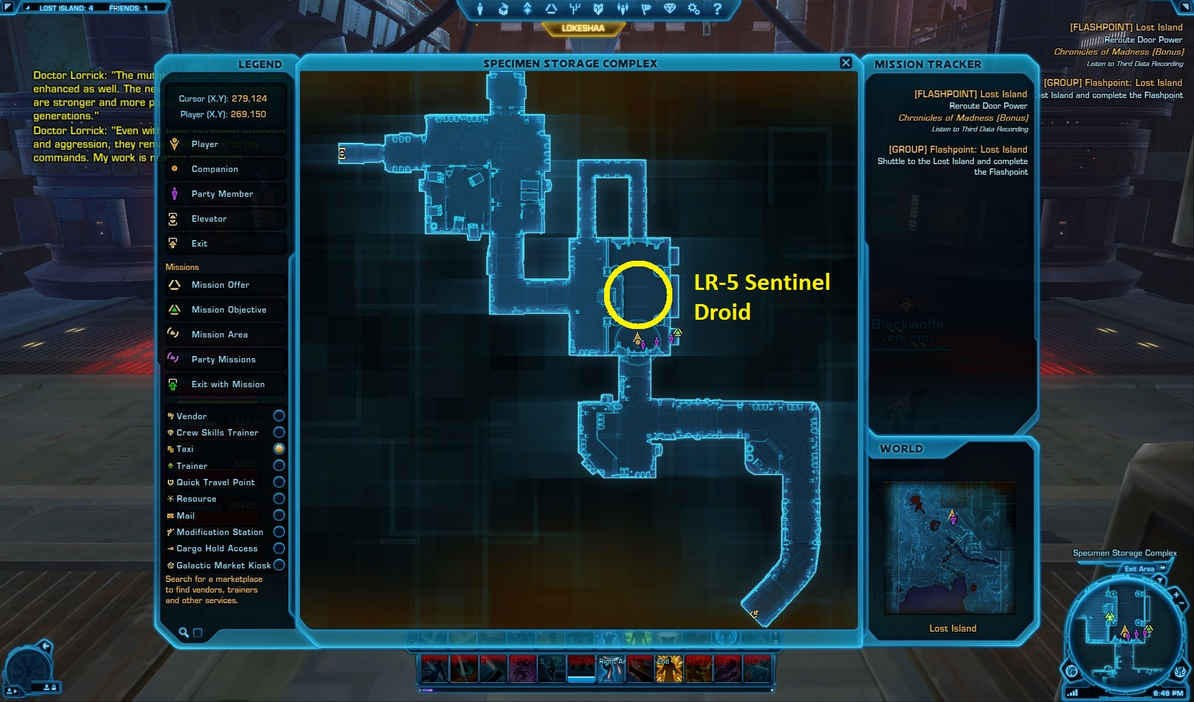 LR-5 Sentinel Droid Location