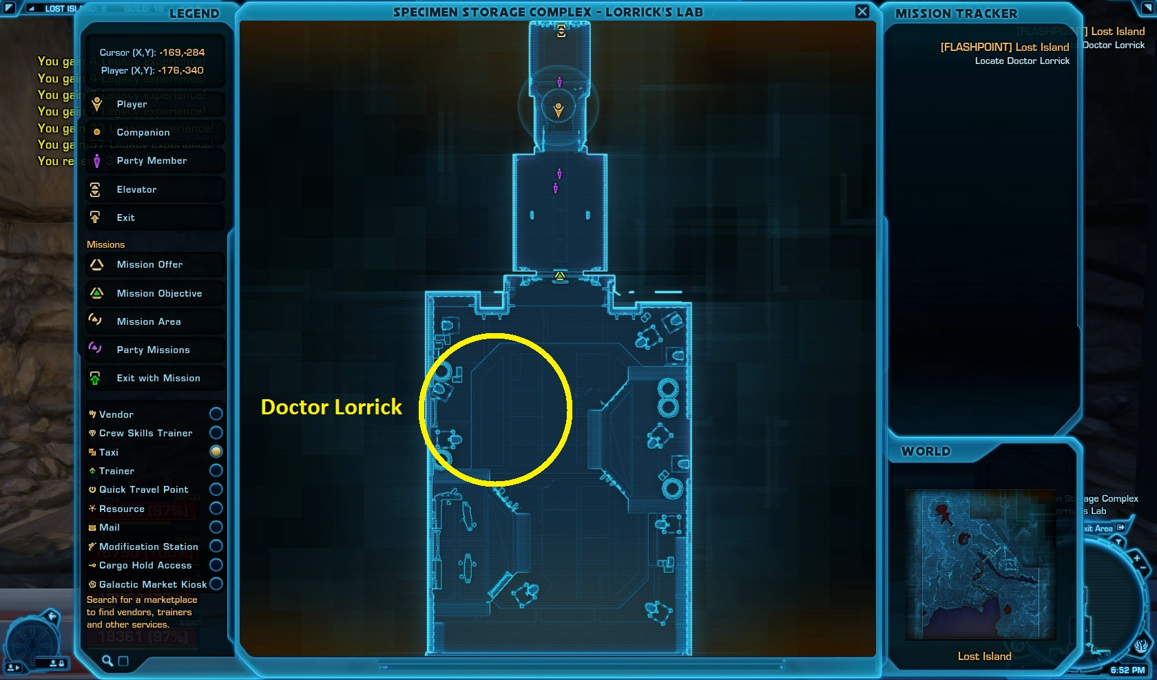 Doctor Lorrick Location