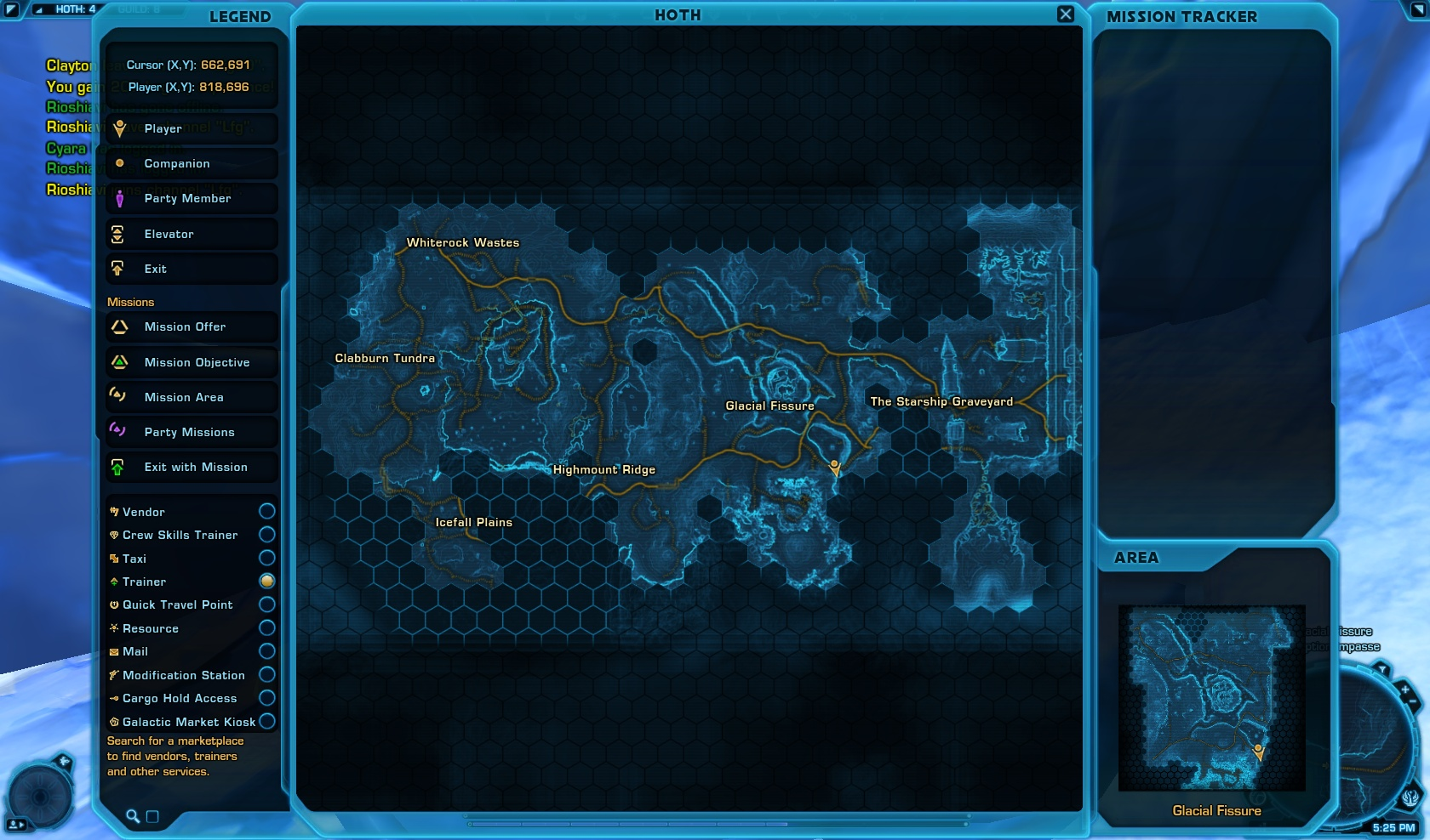 Hoth Location World Map View