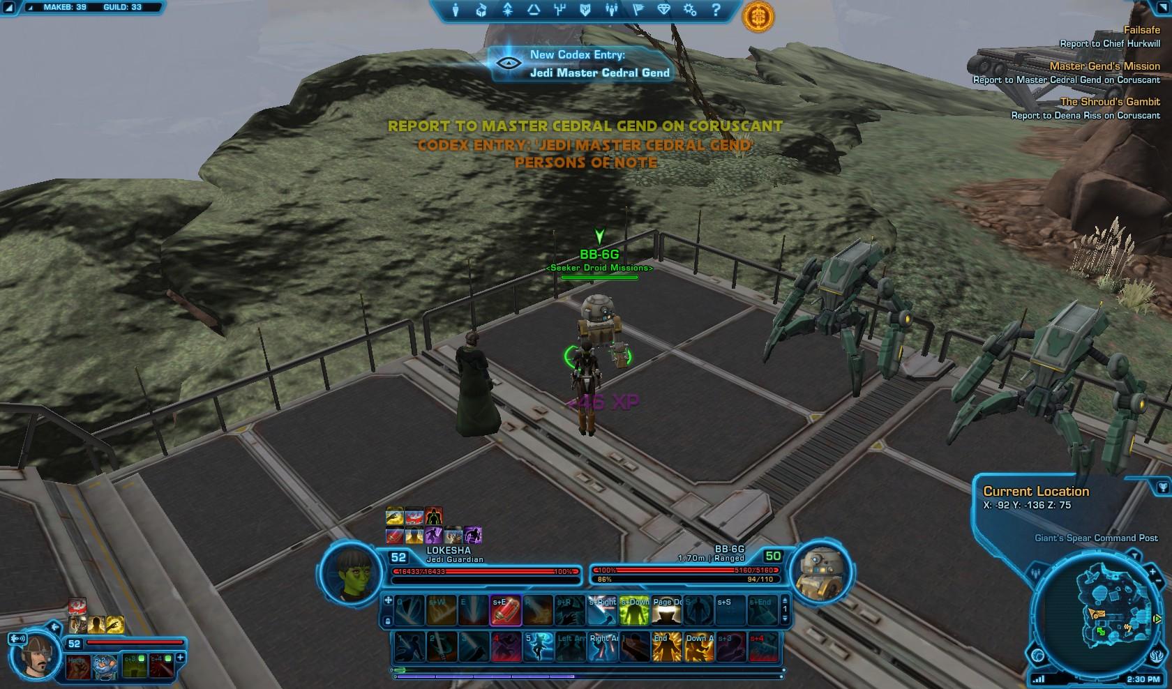Swtor Master Gends Mission