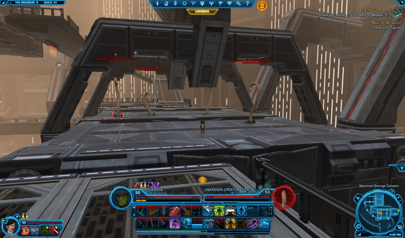 Swtor Raid on Arcanum Seeker Droid Mission