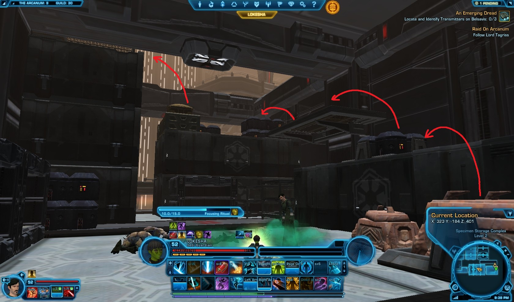 Swtor Raid on Arcanum Seeker Droid Mission