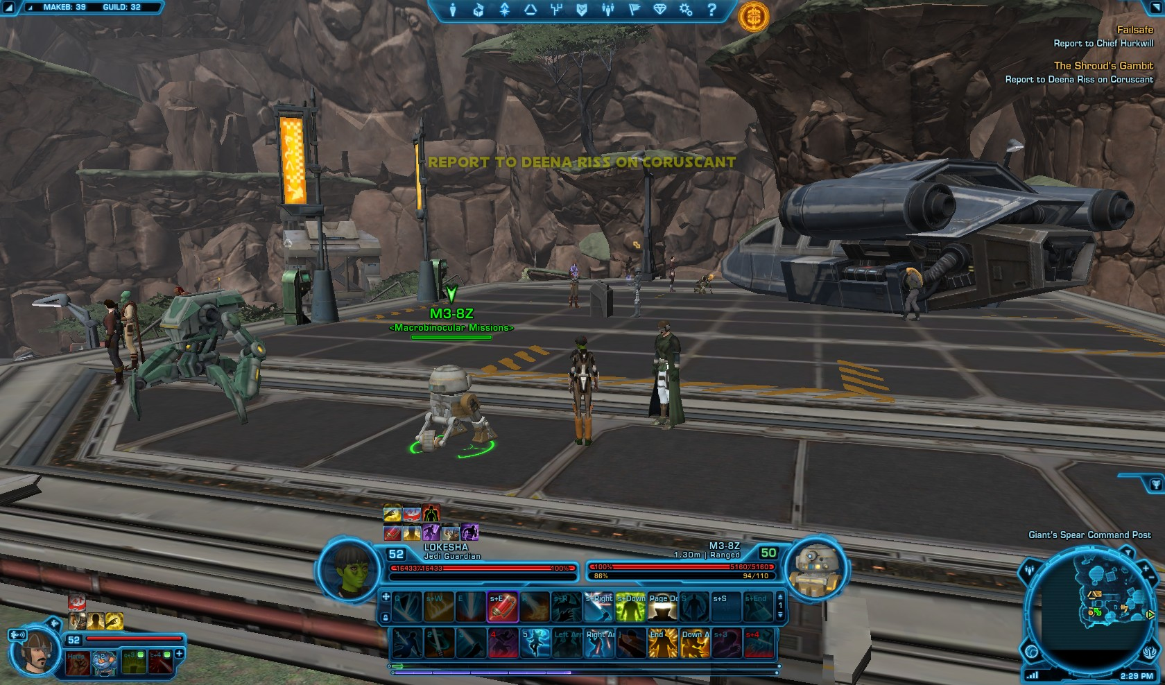 Swtor The Shroud's Gambit starting mission droid