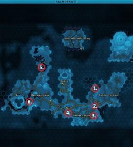 Swtor MCR-99 Droid Reconnaissance Balmorra Empire Location Map