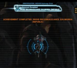 Swtor MCR-99 Droid Reconnaissance Balmorra Republic Achievement