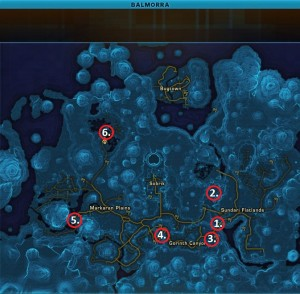 Swtor MCR-99 Droid Reconnaissance Balmorra Republic Map