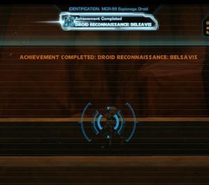 Swtor MCR-99 Droid Reconnaissance Belsavis Achievement