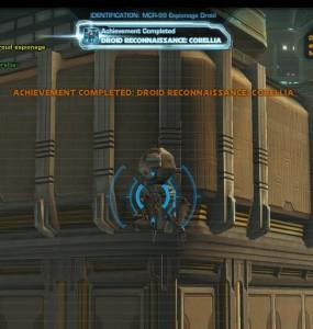 Swtor MCR-99 Droid Reconnaissance Corellia Achievement