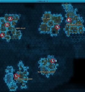 Swtor MCR-99 Droid Reconnaissance Corellia Location Map