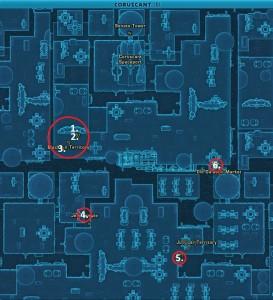 Swtor MCR-99 Droid Reconnaissance Coruscant Location Map