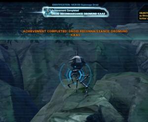 Swtor MCR-99 Droid Reconnaissance Dromund Kaas Achievement