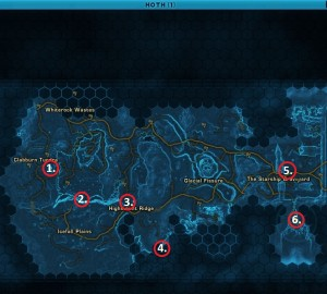 Swtor MCR-99 Droid Reconnaissance Hoth Location Map