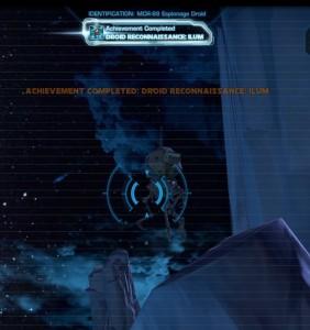 Swtor MCR-99 Droid Reconnaissance Ilum Achievement
