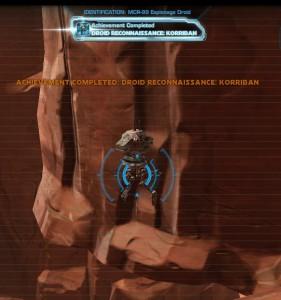 Swtor MCR-99 Droid Reconnaissance Korriban Achievement