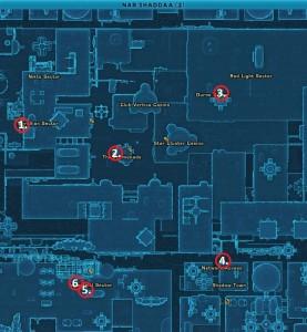 Swtor MCR-99 Droid Reconnaissance Nar Shadaa Location Map