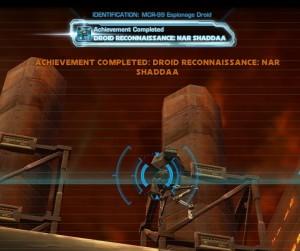 Swtor MCR-99 Droid Reconnaissance Nar Shaddaa Achievement