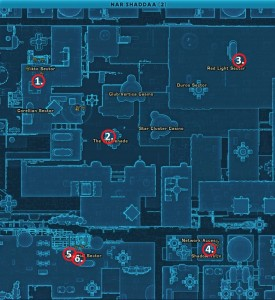 Swtor MCR-99 Droid Reconnaissance Nar Shaddaa For Republic Location Map