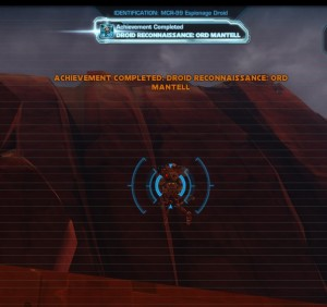 Swtor MCR-99 Droid Reconnaissance Ord Mantell Achievement