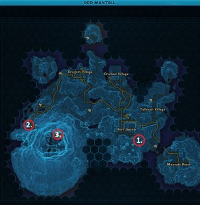 Swtor MCR-99 Droid Reconnaissance Ord Mantell Location Map