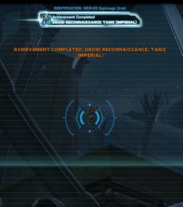 Swtor MCR-99 Droid Reconnaissance Taris Empire Achievement