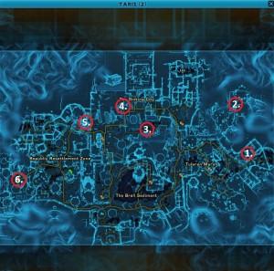 Swtor MCR-99 Droid Reconnaissance Taris Empire Location Map